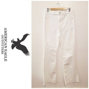 🆕 White highest rise flare jeans